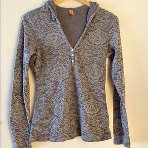 """""""Lucy"""" Gray Patterned Hooded Thermal"""
